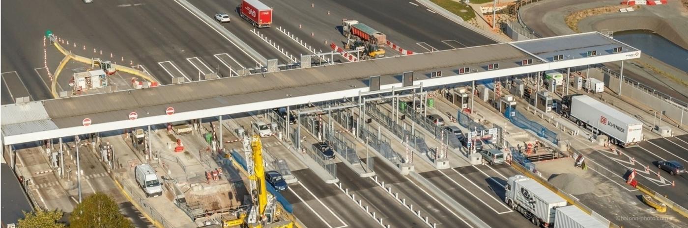 Construction de la barrière pleine voie de Ancenis