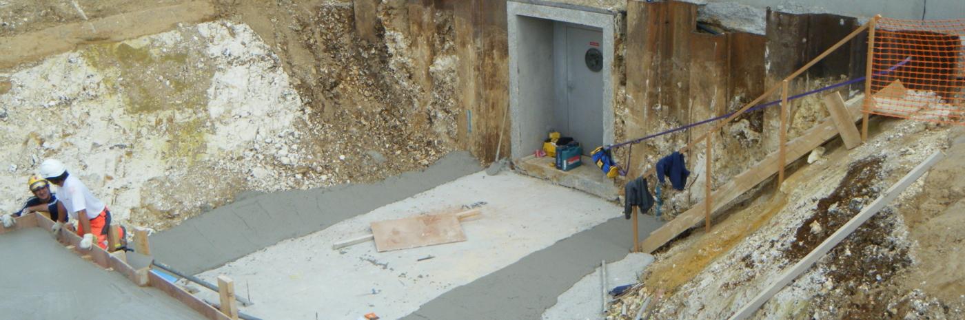 Prolongation des galeries souterraines de la BPV de Cottévrard