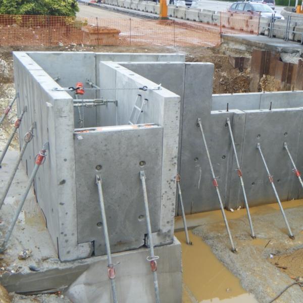 Création de galeries souterraines sur le péage de Cottévrard