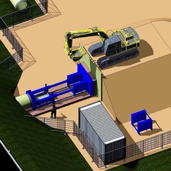 chantier de fonçage en 3D