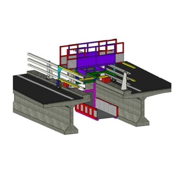 représentation en 3D de la nacelle du viaduc du Vicoin