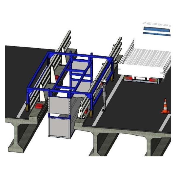 plan en 3D de la nacelle du viaduc du Vicoin