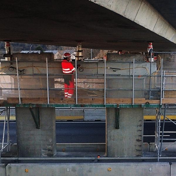 vérinage de tablier de pont