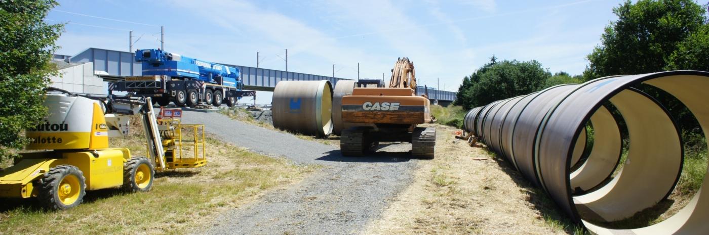 Installation de chantier de Tubage PRV