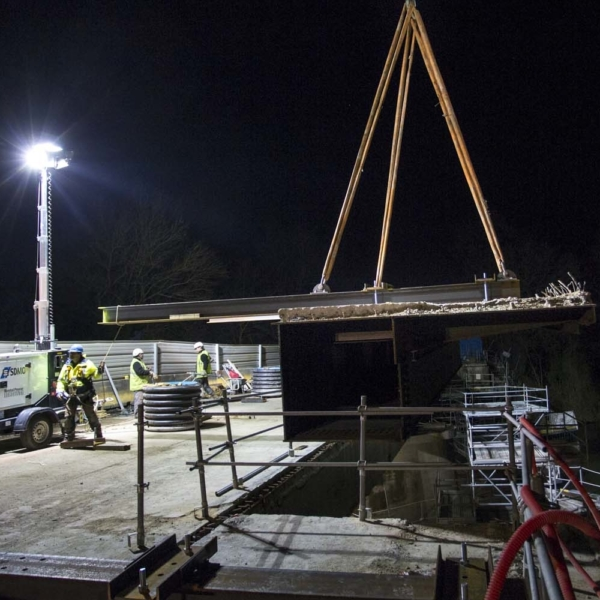Remplacement des encorbellements du pont de Maulny
